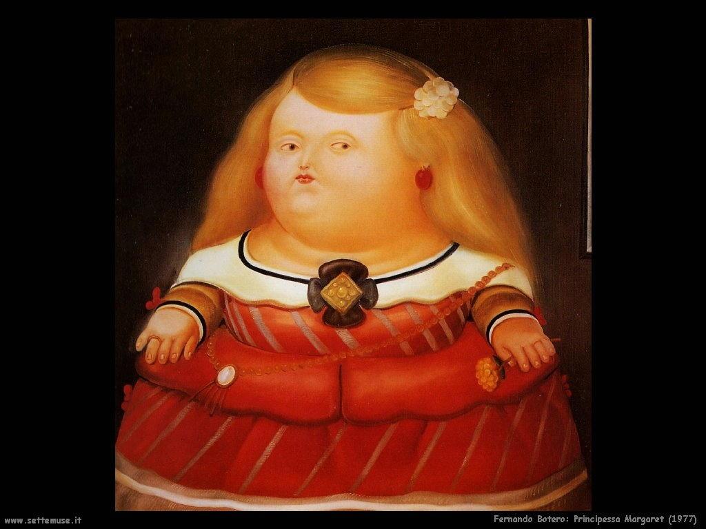 Fernando Botero_principessa_margaret_1977
