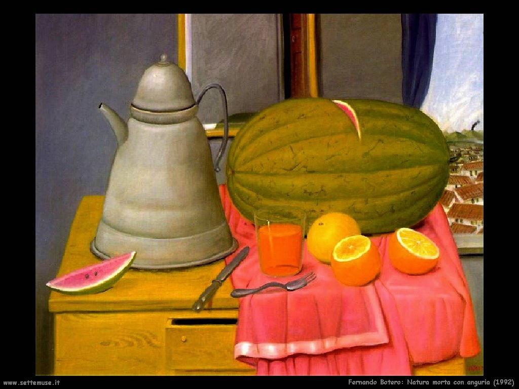 Fernando Botero_natura_morta_con_anguria_1992