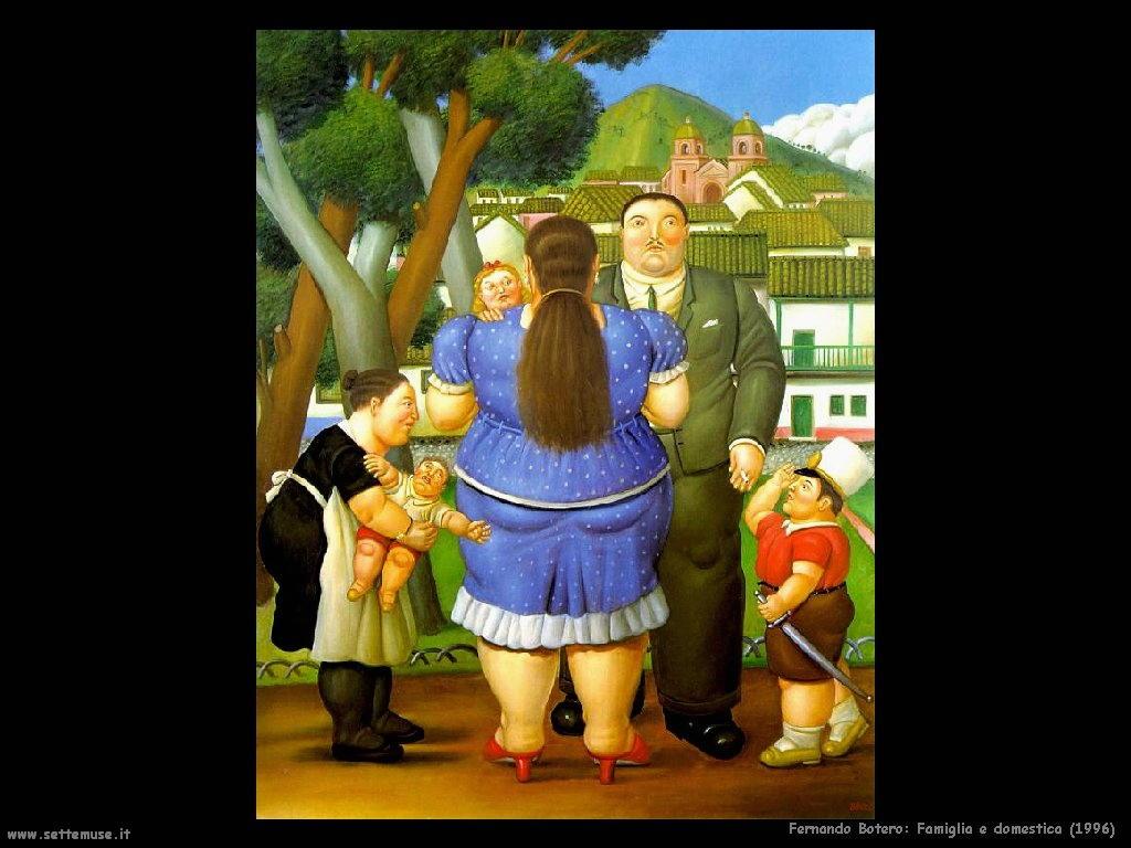 Fernando Botero_famiglia_e_domestica_1996