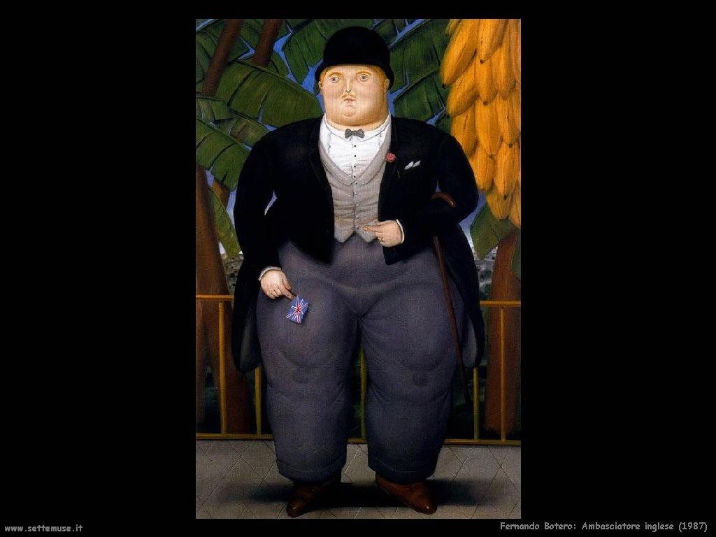 Fernando Botero_ambasciatore_inglese_1987