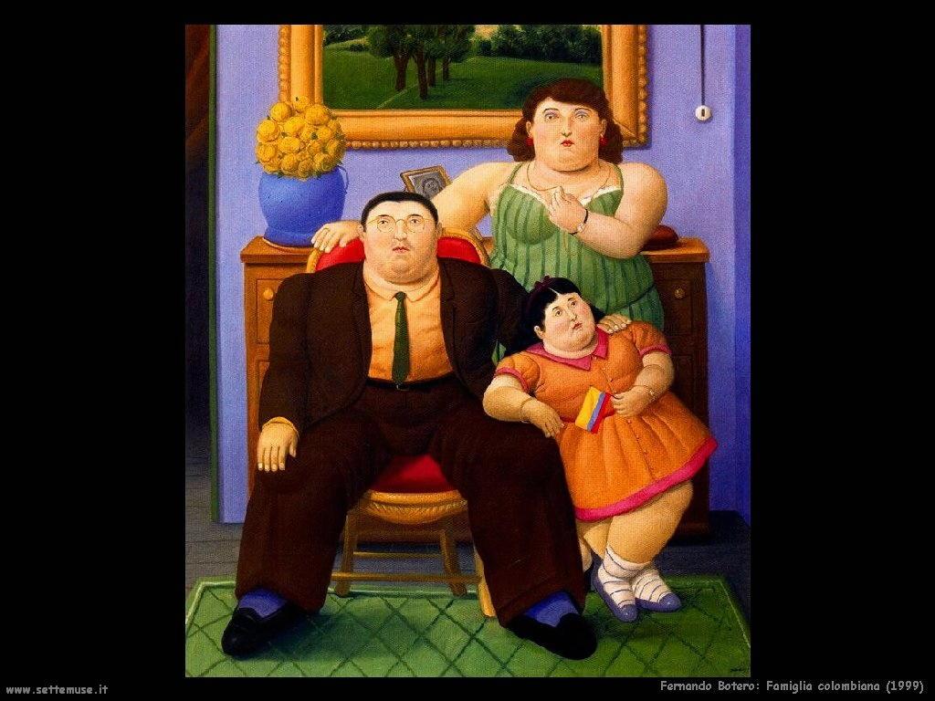 Fernando Botero_famiglia_colombiana_1999