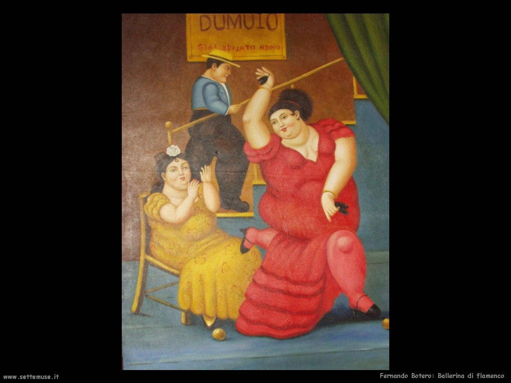 Fernando Botero_ballerina_di_flamenco artwork
