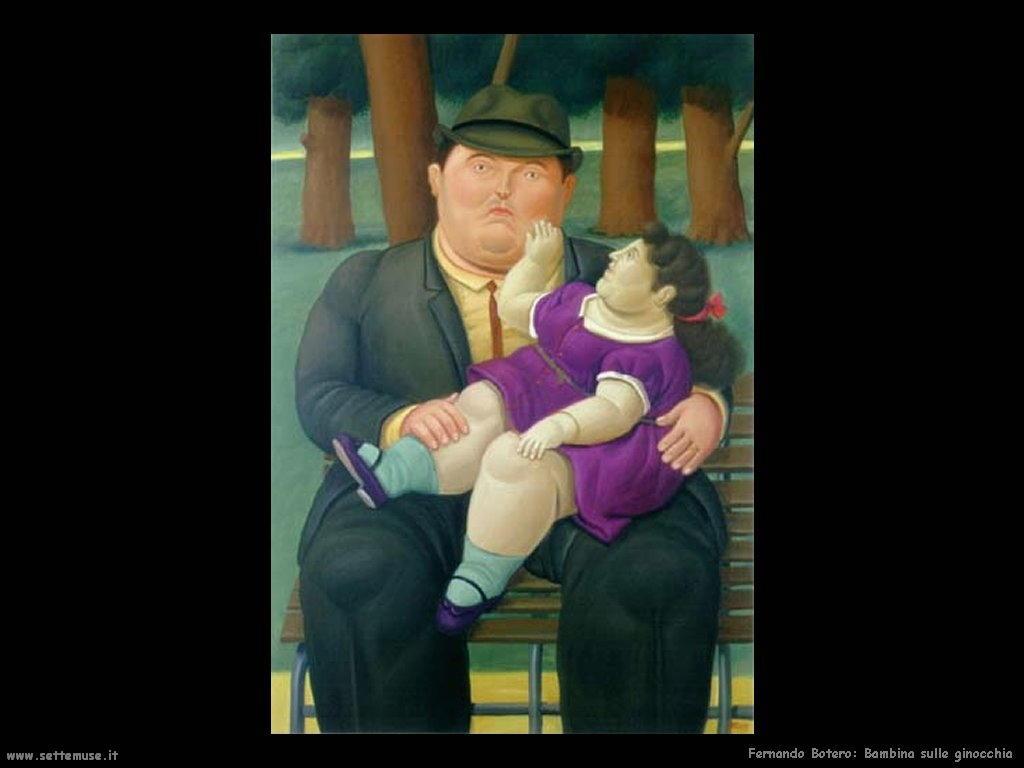 Fernando Botero_bambina_sulle_ginocchia