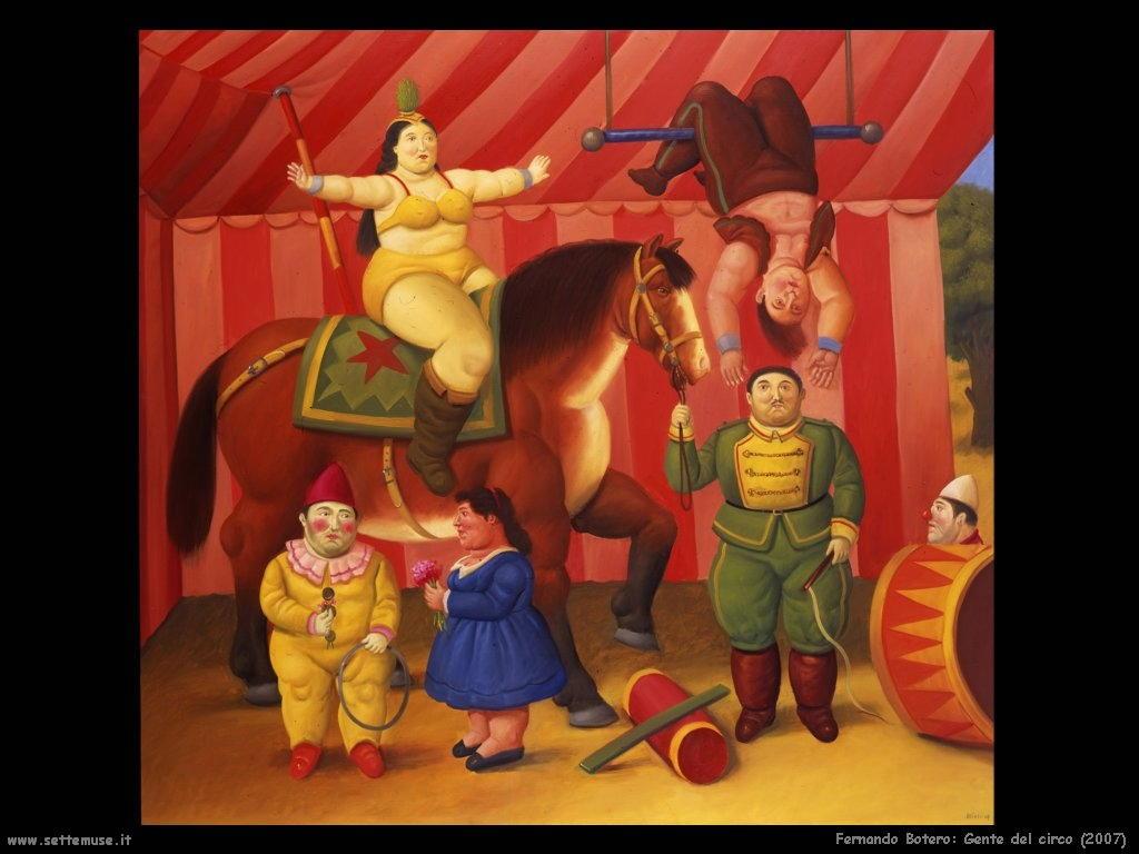 Fernando Botero_gente_del_circo_2007