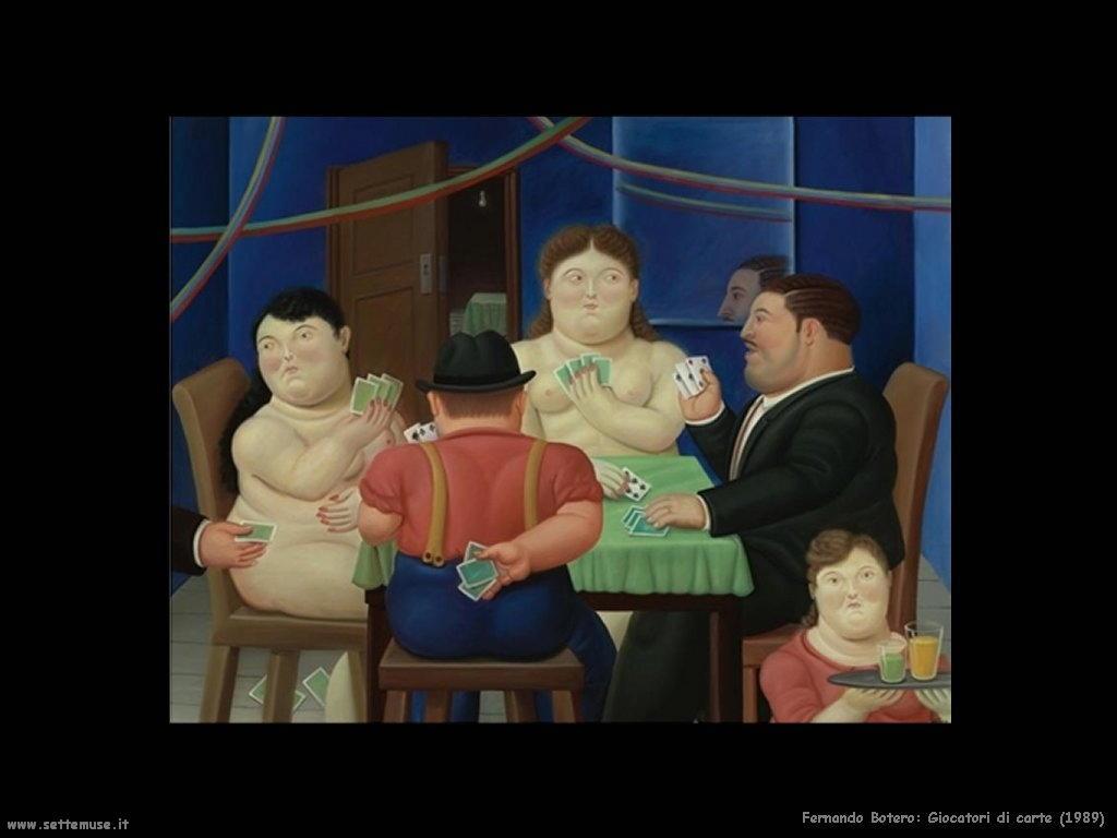 Fernando Botero_giocatori_di_carte_1989