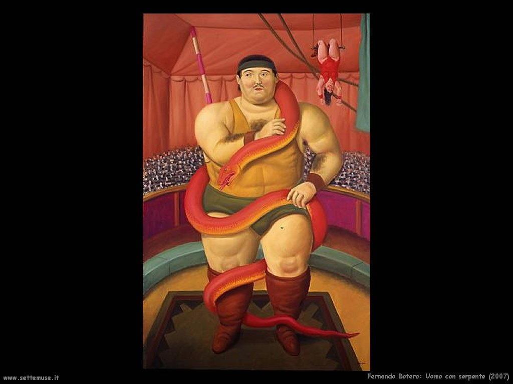 Fernando Botero_uomo_con_serpente_2007