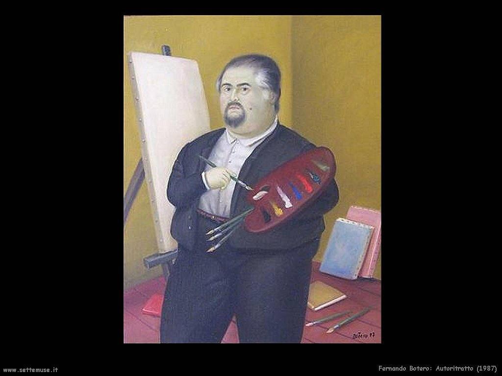 Fernando Botero_autoritratto_1987