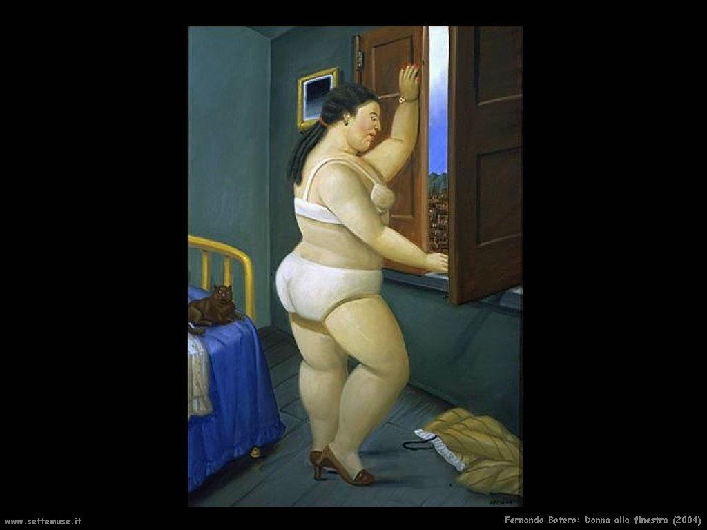Fernando Botero donna_alla_finestra_2004