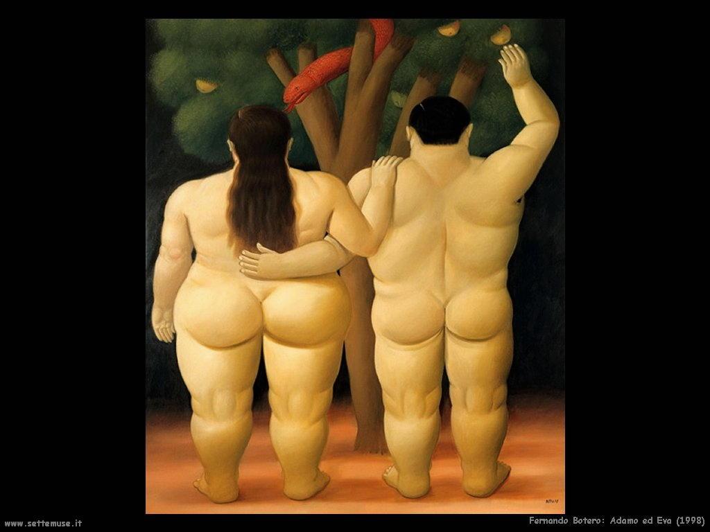 Fernando Botero_adamo_ed_eva_1998