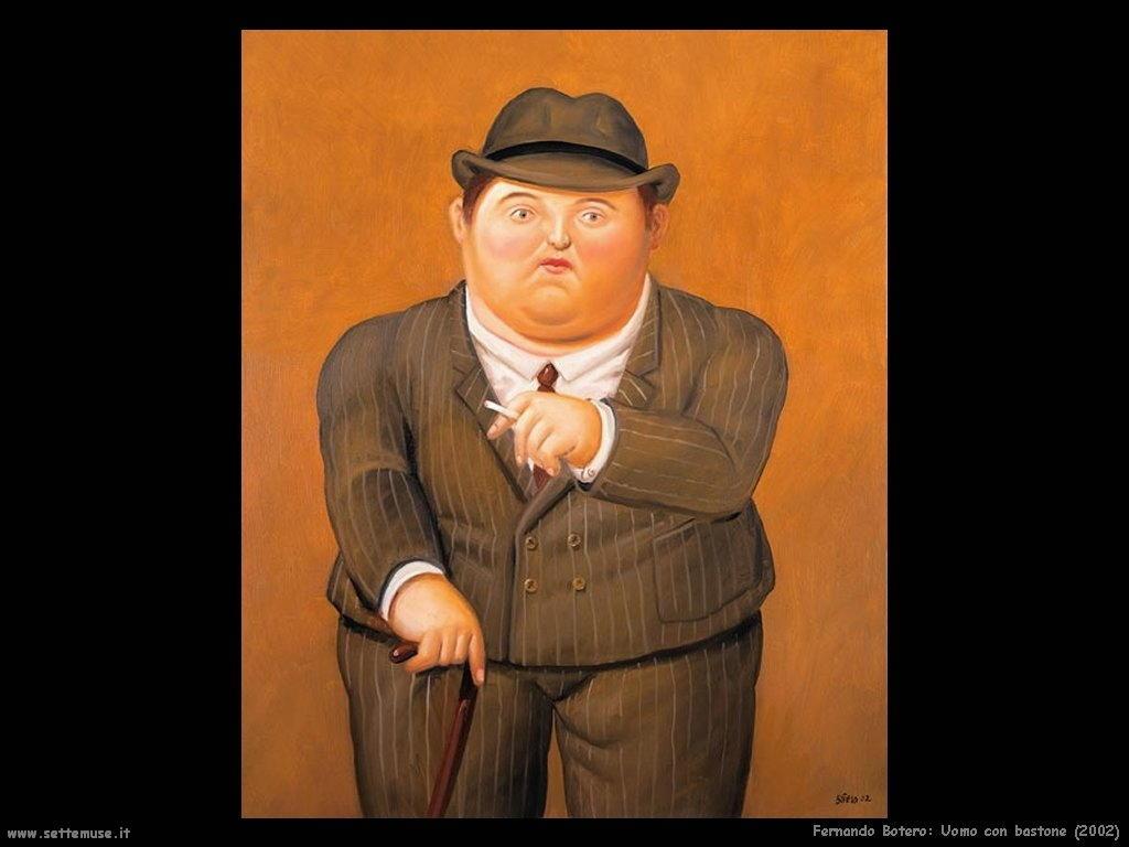 Fernando Botero_uomo_con_bastone_2002