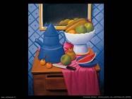 Fernando Botero_natura_morta_con_caffettiera_blu_2002