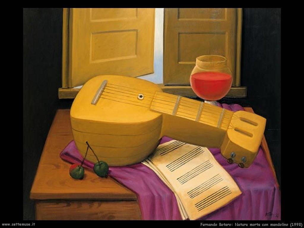 Fernando Botero_natura_morta_con_mandolino_1998