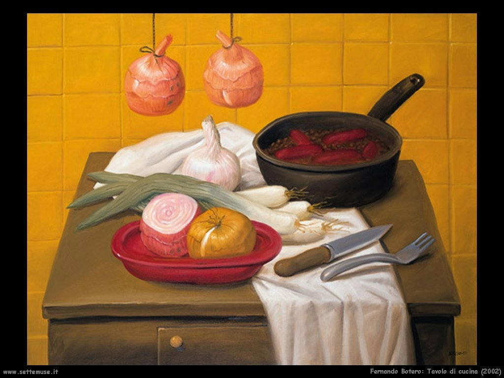 Fernando Botero_tavolo_di_cucina_2002