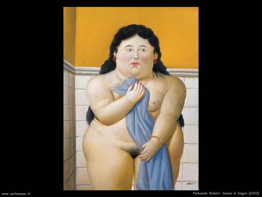Fernando Botero_donna_in_bagno_2000