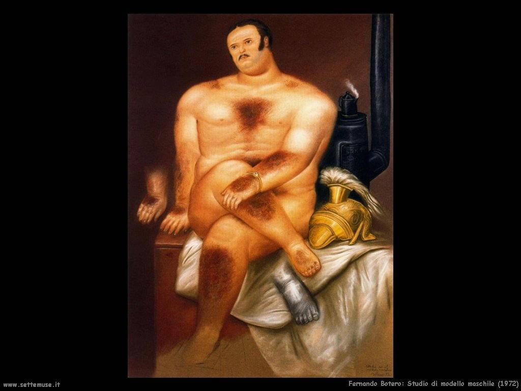 Fernando Botero_studio_modello_maschile_1972