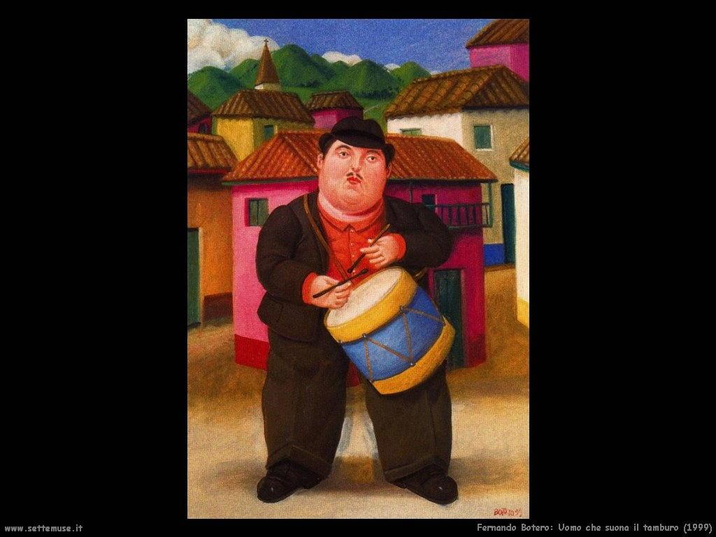 Fernando Botero_uomo_che_suona_il_tamburo_1999