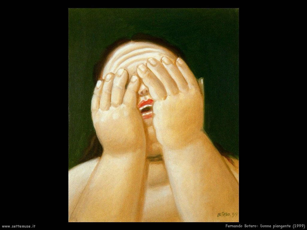 Fernando Botero_donna_piangente_1999