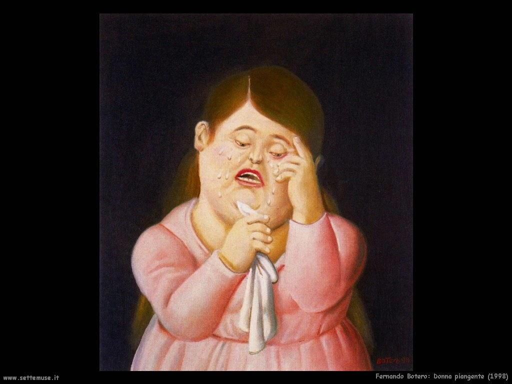 Fernando Botero_donna_piangente_1998 artwork
