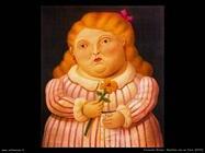 Fernando Botero_bambina_con_fiore_2000