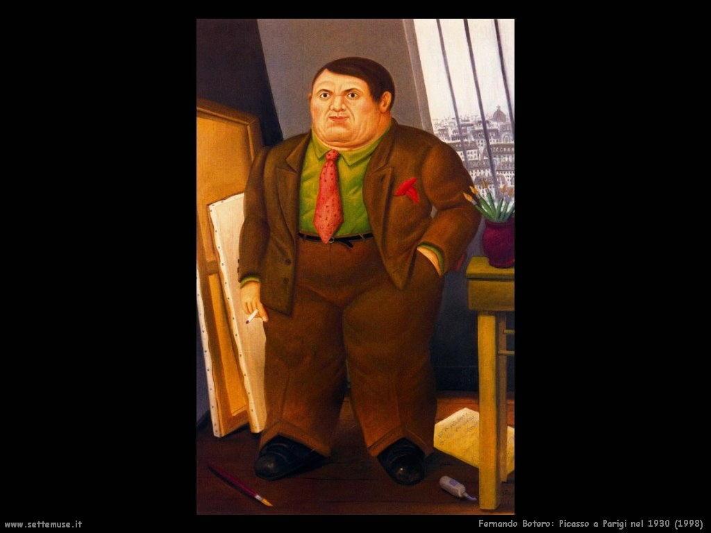 Fernando Botero_picasso_a_parigi_nel_1930_1998