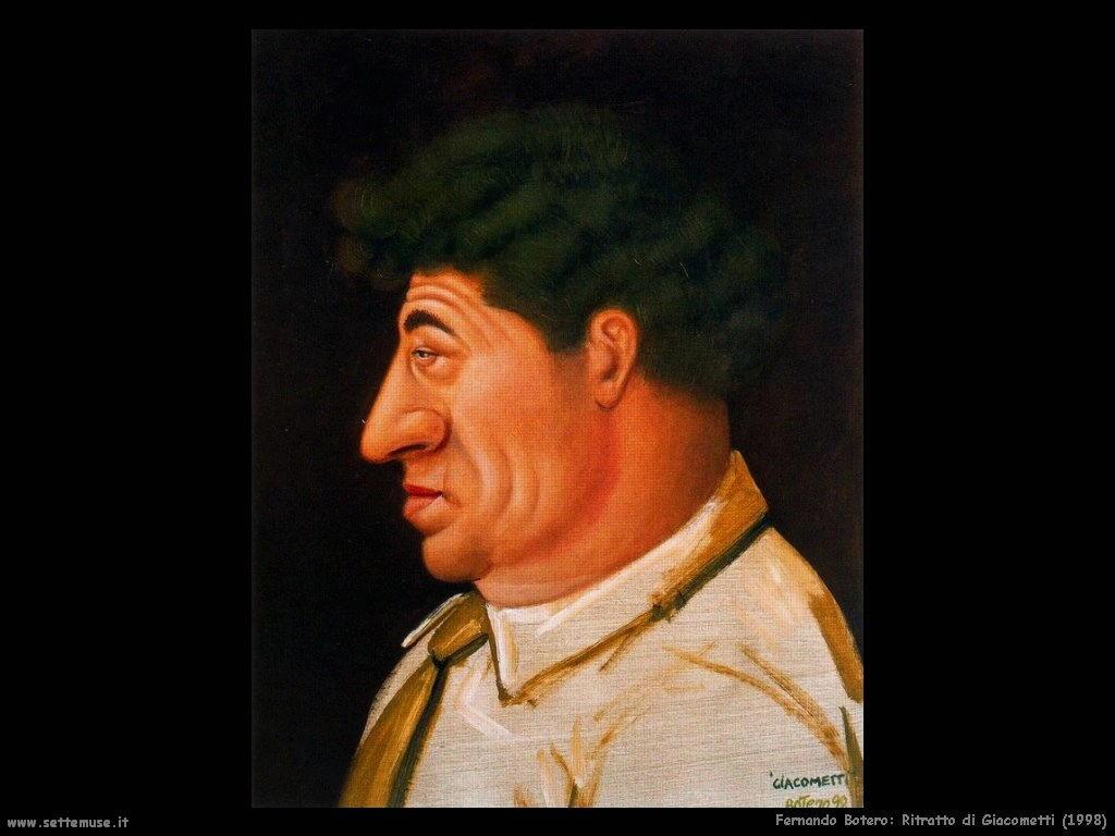 Fernando Botero_ritratto_di_giacometti_1998