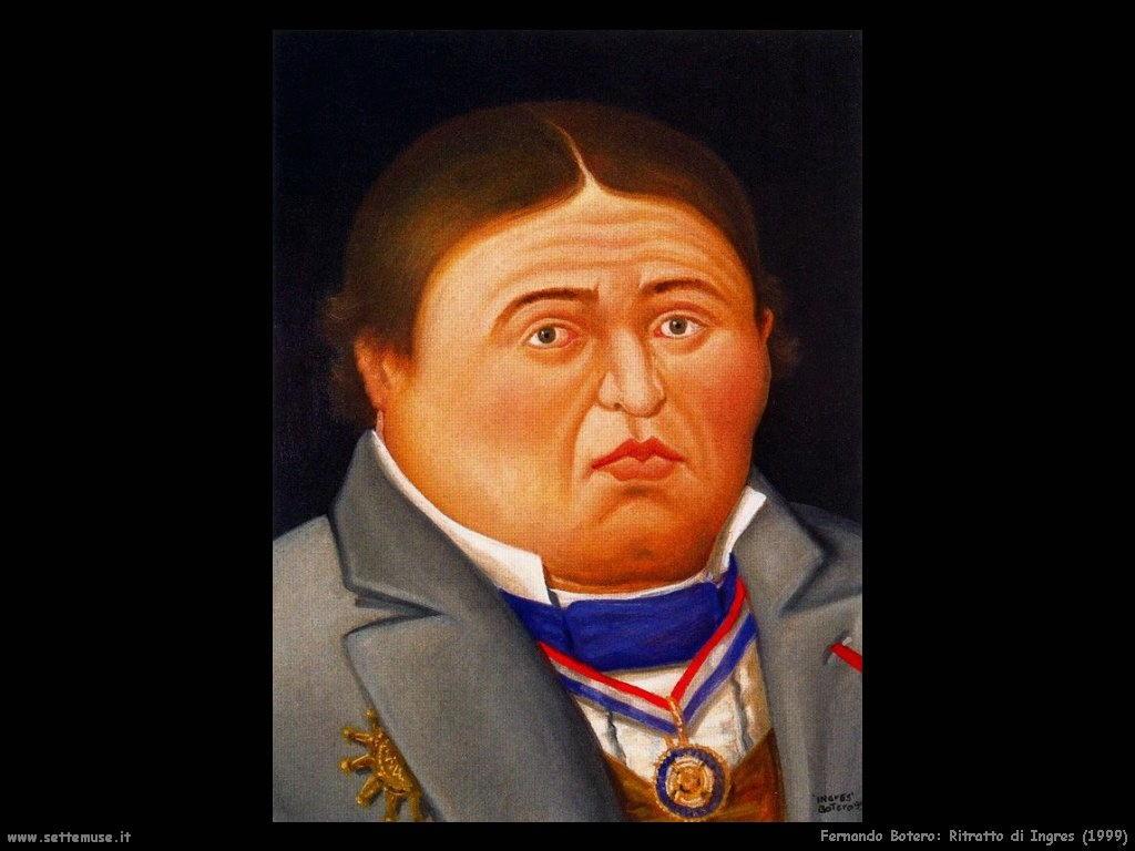 Fernando Botero_ritratto_di_ingres_1999