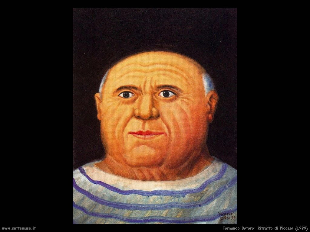 Fernando Botero_ritratto_di_picasso_1999