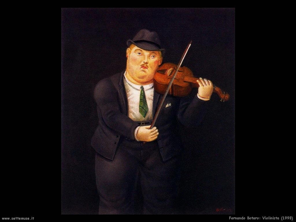 Fernando Botero_violinista_1998