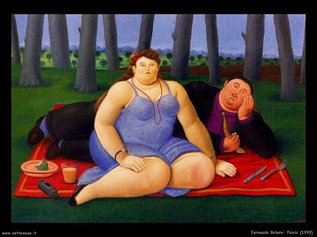 Fernando Botero picnic_1999