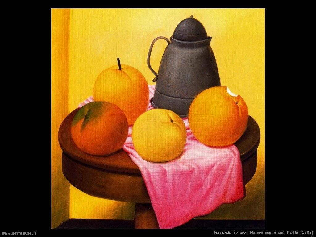 Fernando Botero natura_morta_con_frutta_1989