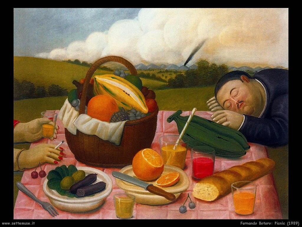 Fernando Botero _picnic_1989