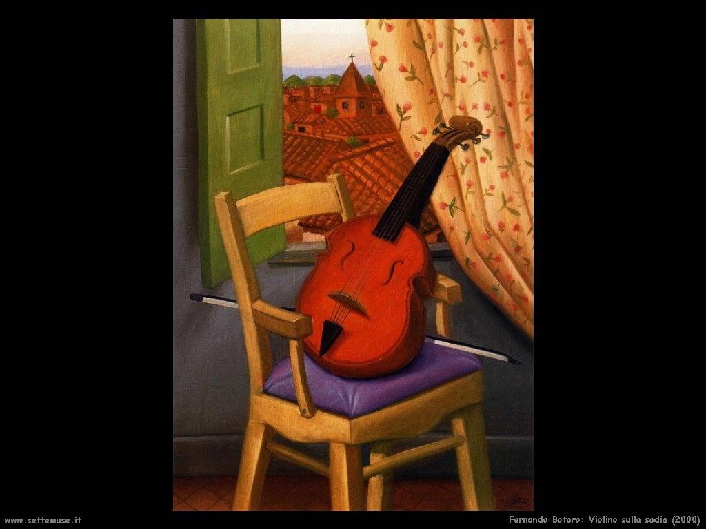 Fernando Botero_violino_sulla_sedia_2000