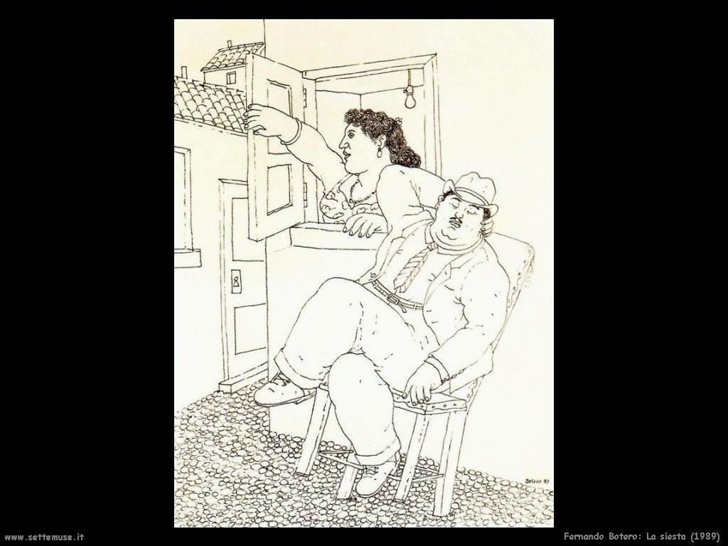 Fernando Botero la_siesta_1989