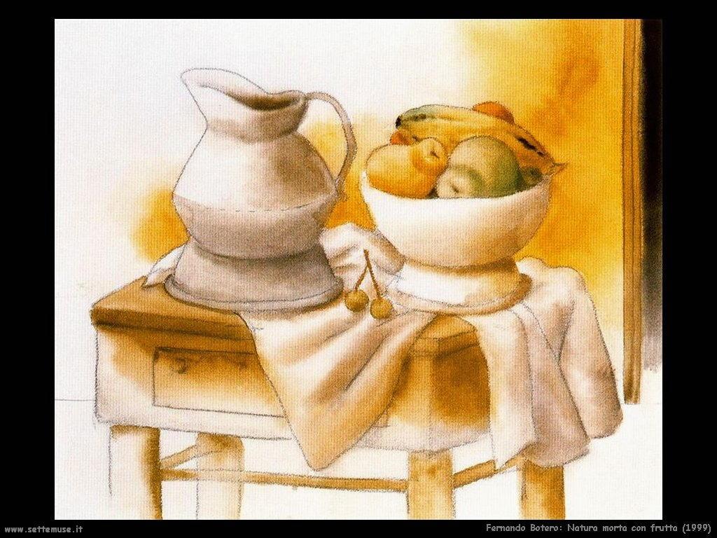 Fernando Botero natura_morta_con_frutta_1999