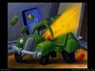 Fernando Botero_Auto_bomba_1999