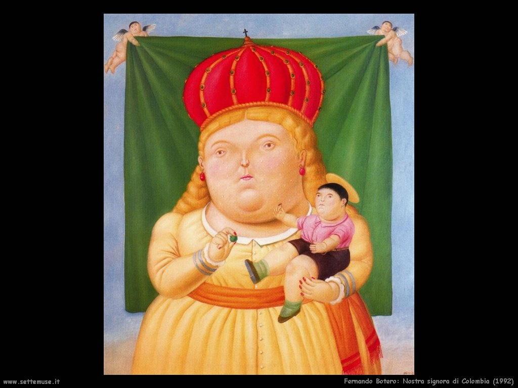 Fernando Botero_nostra_signora_di_colombia_1992