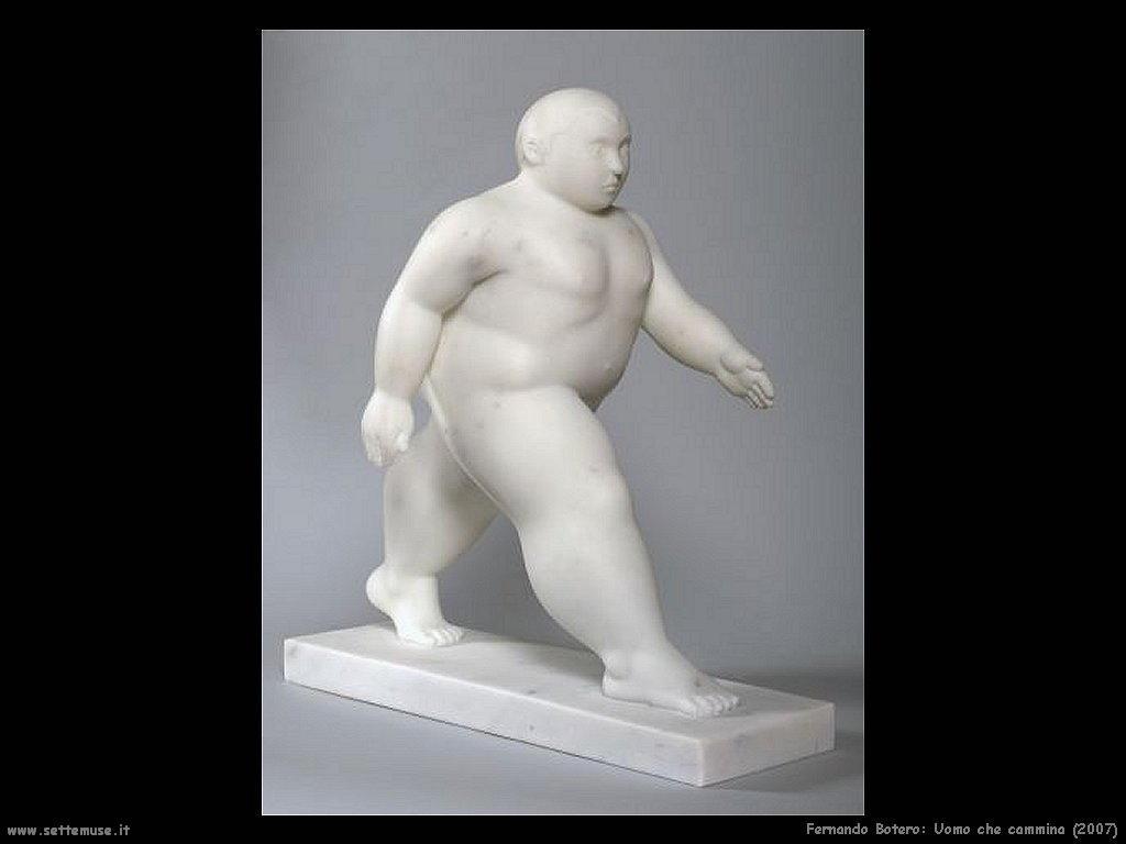 Fernando Botero_uomo_che_cammina_2007