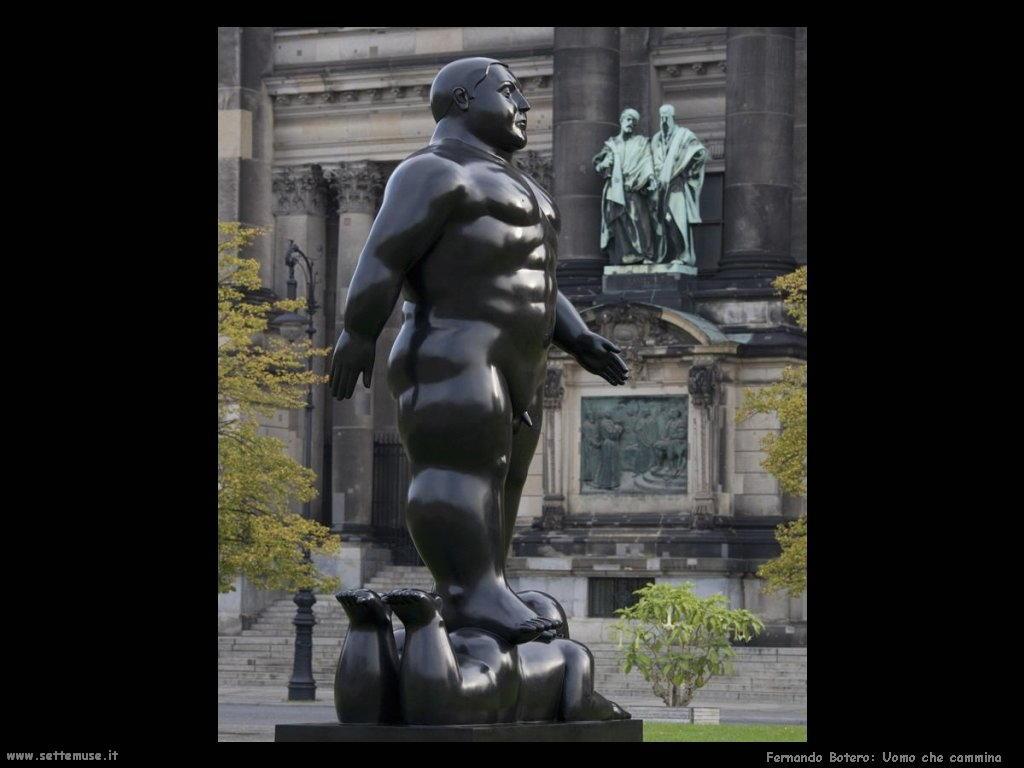Fernando Botero_uomo_che_cammina