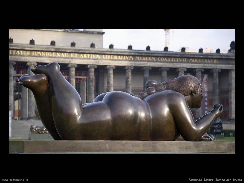 Fernando Botero_donna_con_frutta