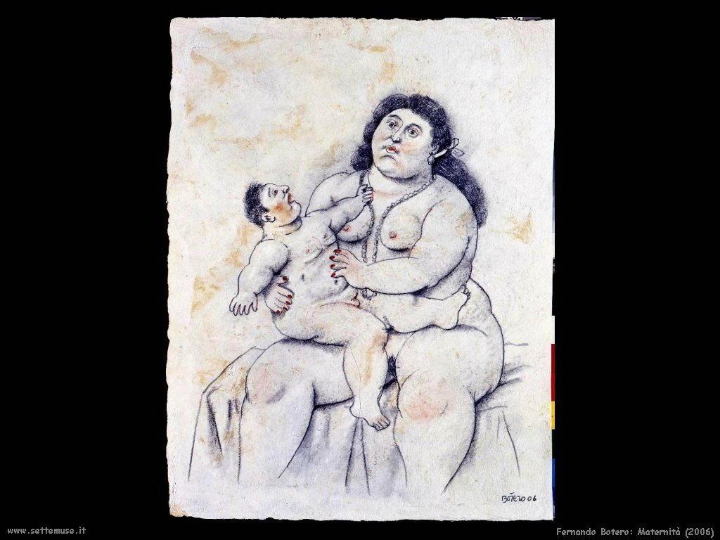 fernando botero  maternità (2006)