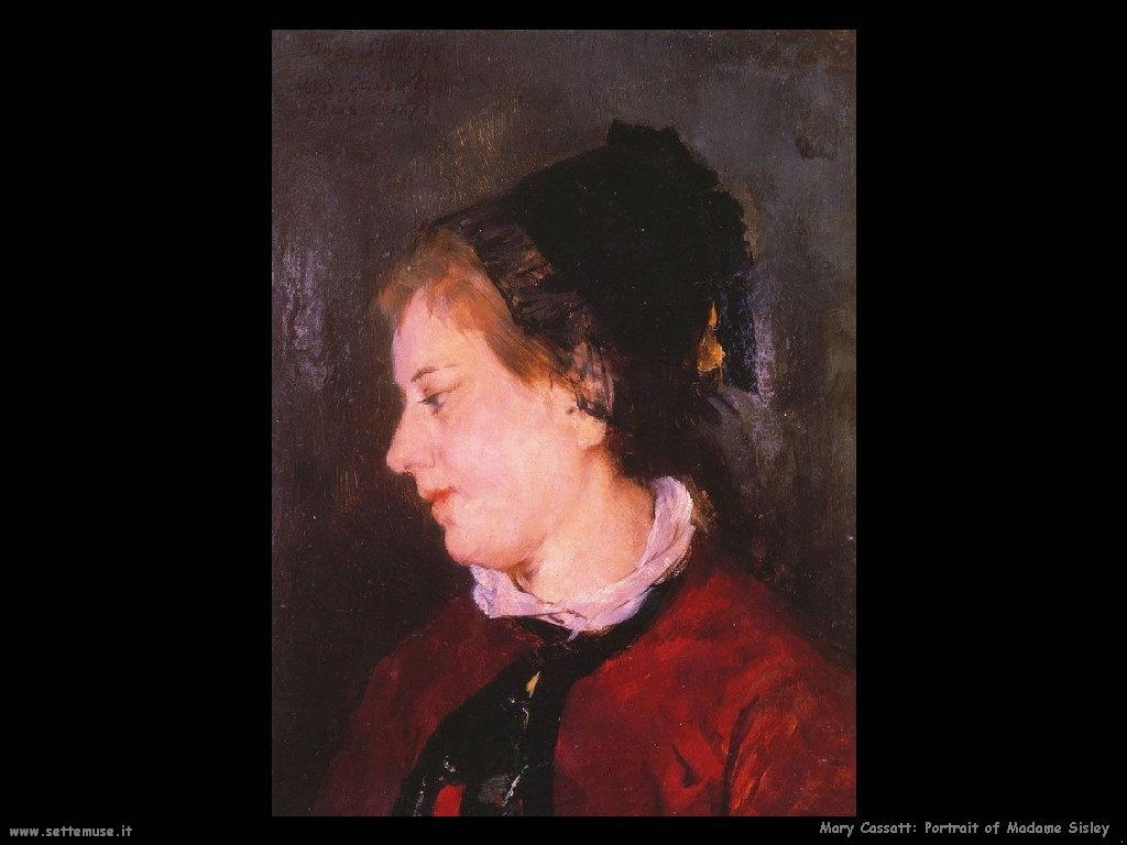 Mary Cassatt ritratto di madame sisley