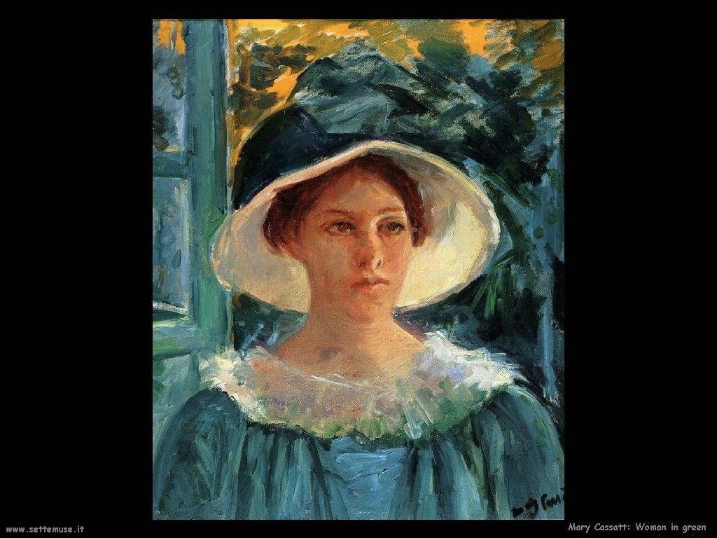 Mary Cassatt ragazza in verde