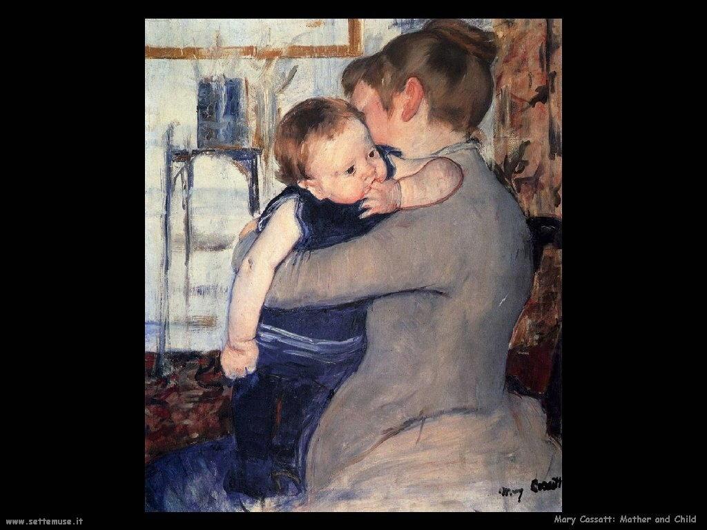 Mary Cassatt mamma e bambino