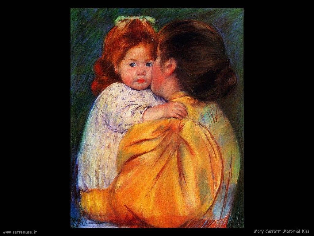 Mary Cassatt Bacio materno