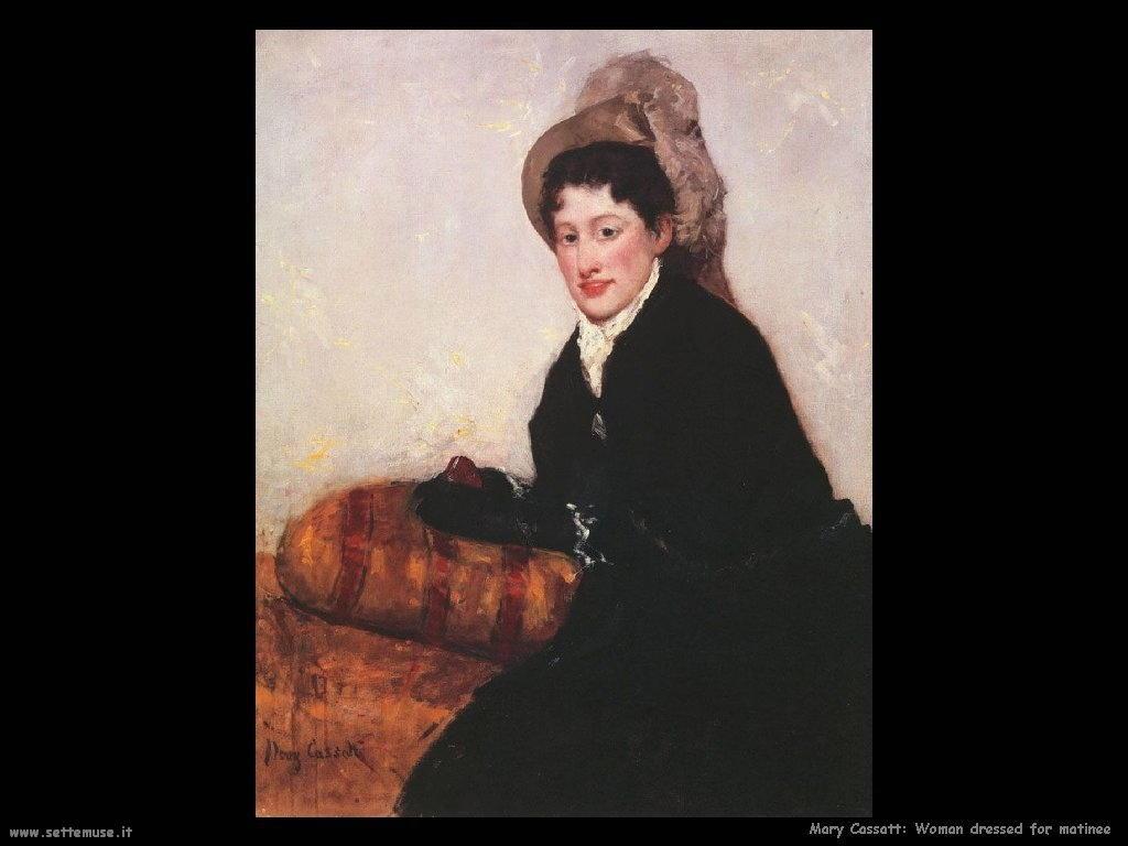 Mary Cassatt Ritratto di donna vestita per un matinee
