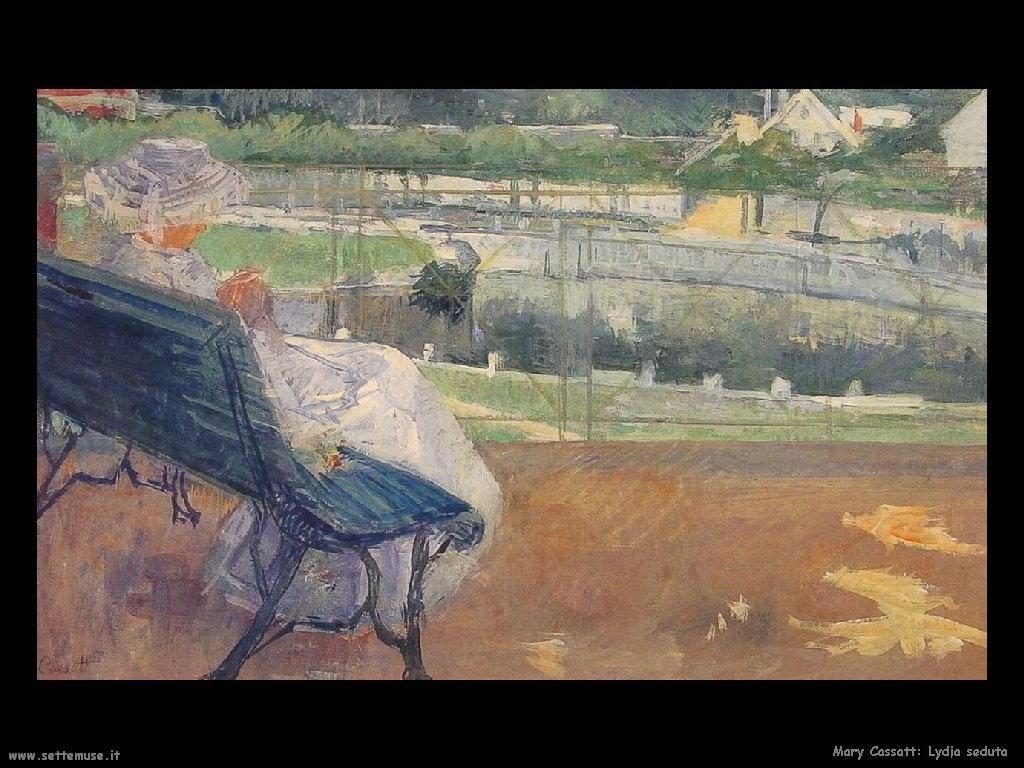Mary Cassatt Lydia seduta nel portico