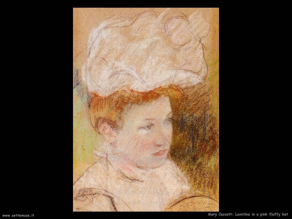 Mary Cassatt_Leontine_in_a_Pink_Fluffy_Hat