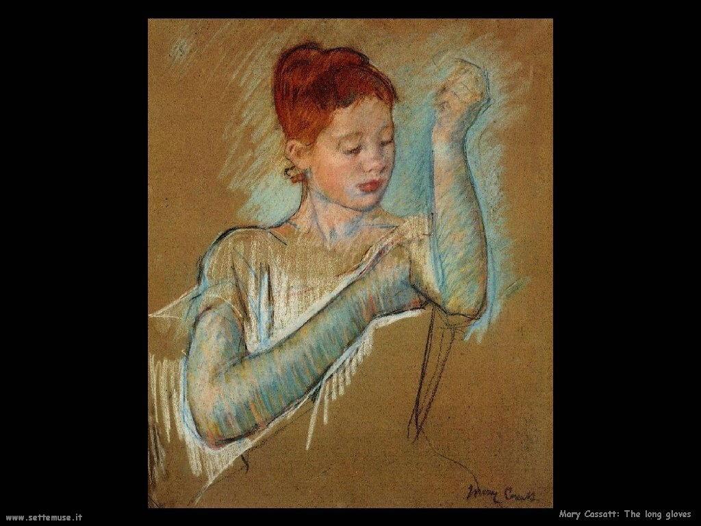 Mary Cassatt i lunghi guanti