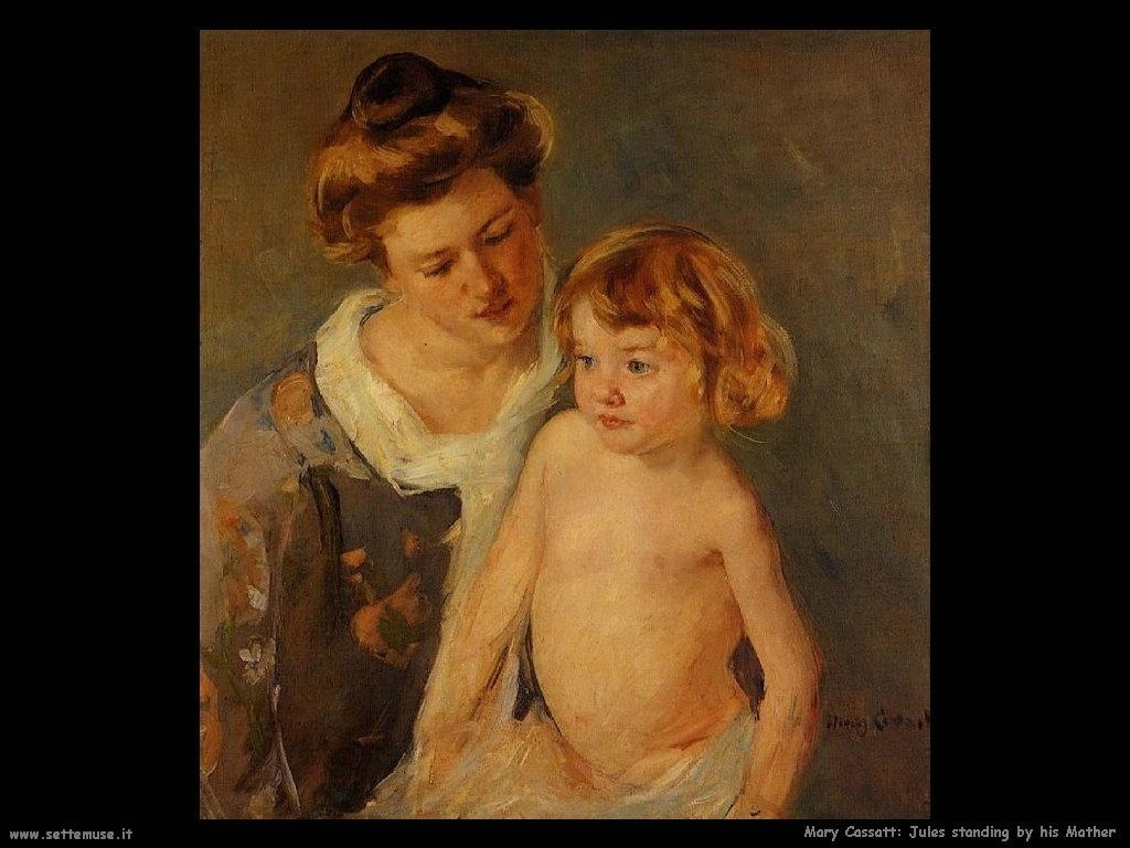 Mary Cassatt giulia con sua madre