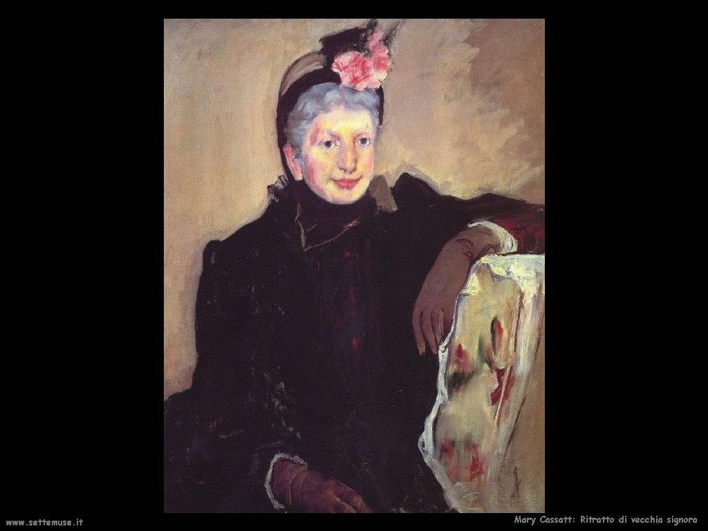 Mary Cassatt Ritratto di signora anziana